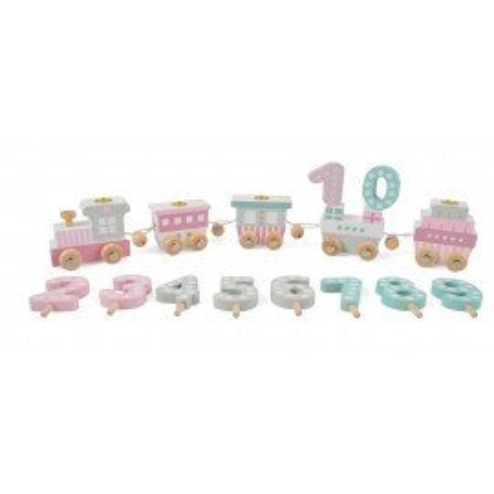 Magni Geburtstagszug mit 4 Wagons pastell rosa