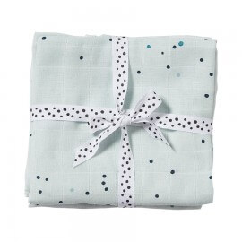 Done by Deer Spucktücher Set Dreamy dots Blau