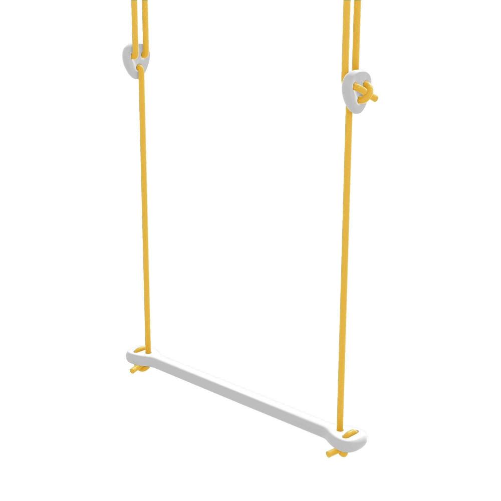 Lillagunga Trapez Bone Birke weiss - Seile gelb