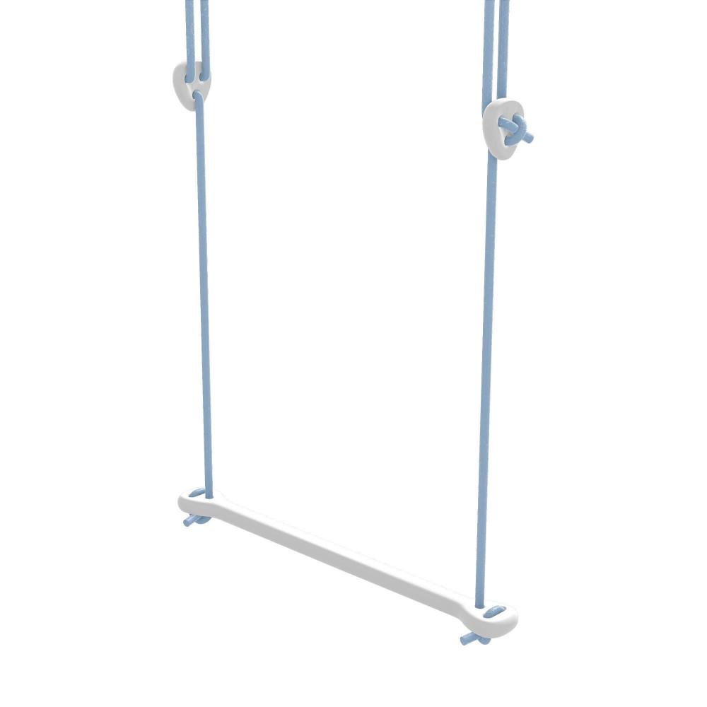 Lillagunga Trapez Bone Birke weiss - Seile blau