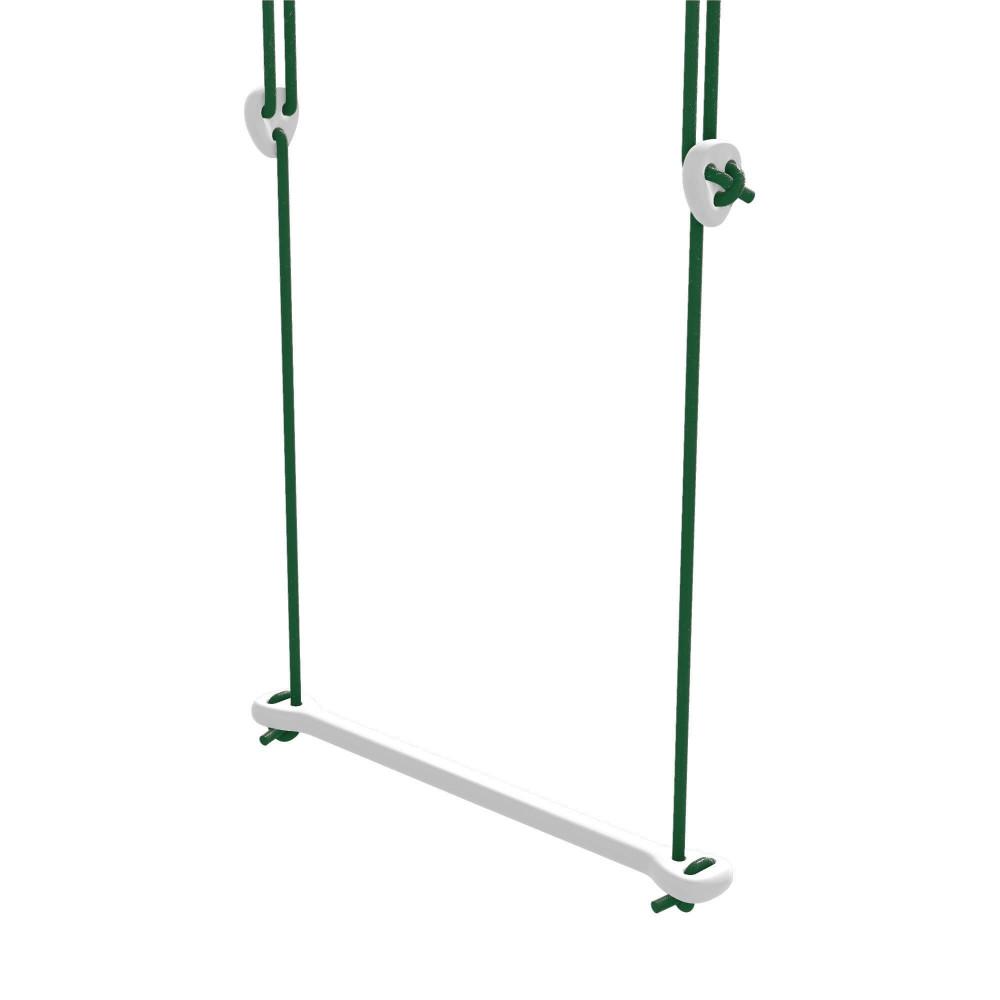 Lillagunga Trapez Bone Birke weiss - Seile grün