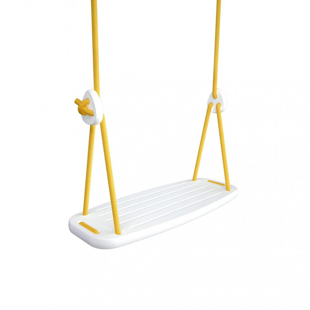 Lillagunga Kinderschaukel Birke weiss - Seile gelb