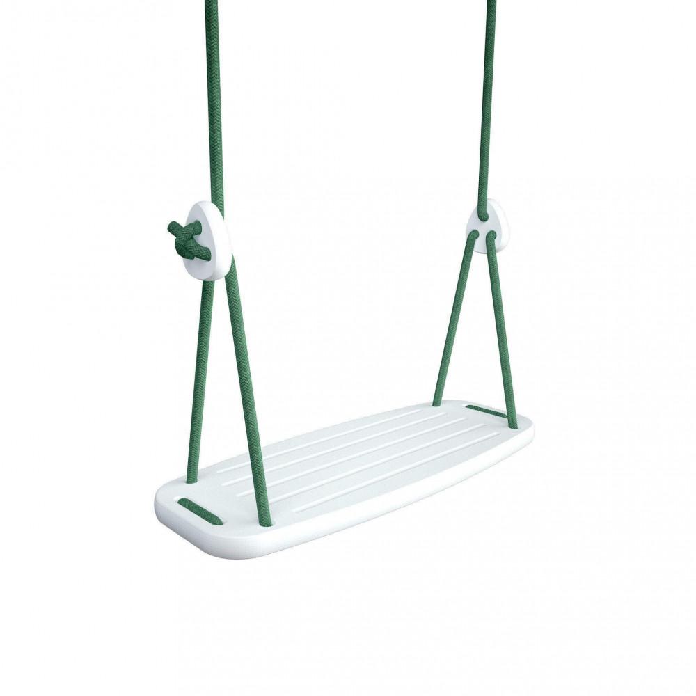 Lillagunga Kinderschaukel Birke weiss - Seile grün