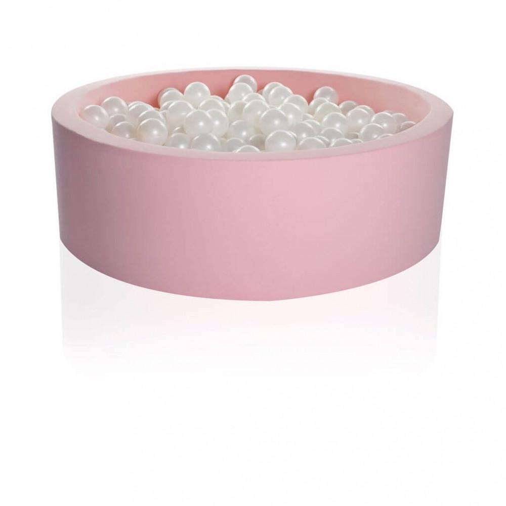 KIDKII Bällebad 90x30 Rund, Pink Candy