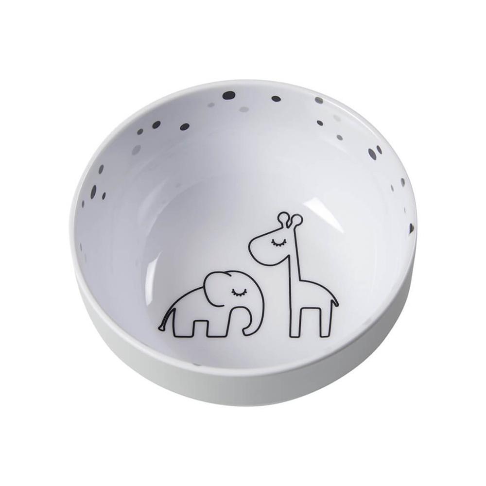 Done by Deer Yummy Mini Kinderschüssel Dreamy Dots, grau