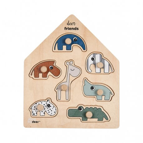 """Done by Deer Puzzle """"Deer Friends"""" aus Holz"""
