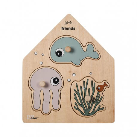 """Done by Deer Puzzle """"Sea Friends"""" aus Holz"""
