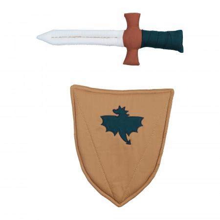 Fabelab Ritterschwert und Schild aus Bio-Baumwolle