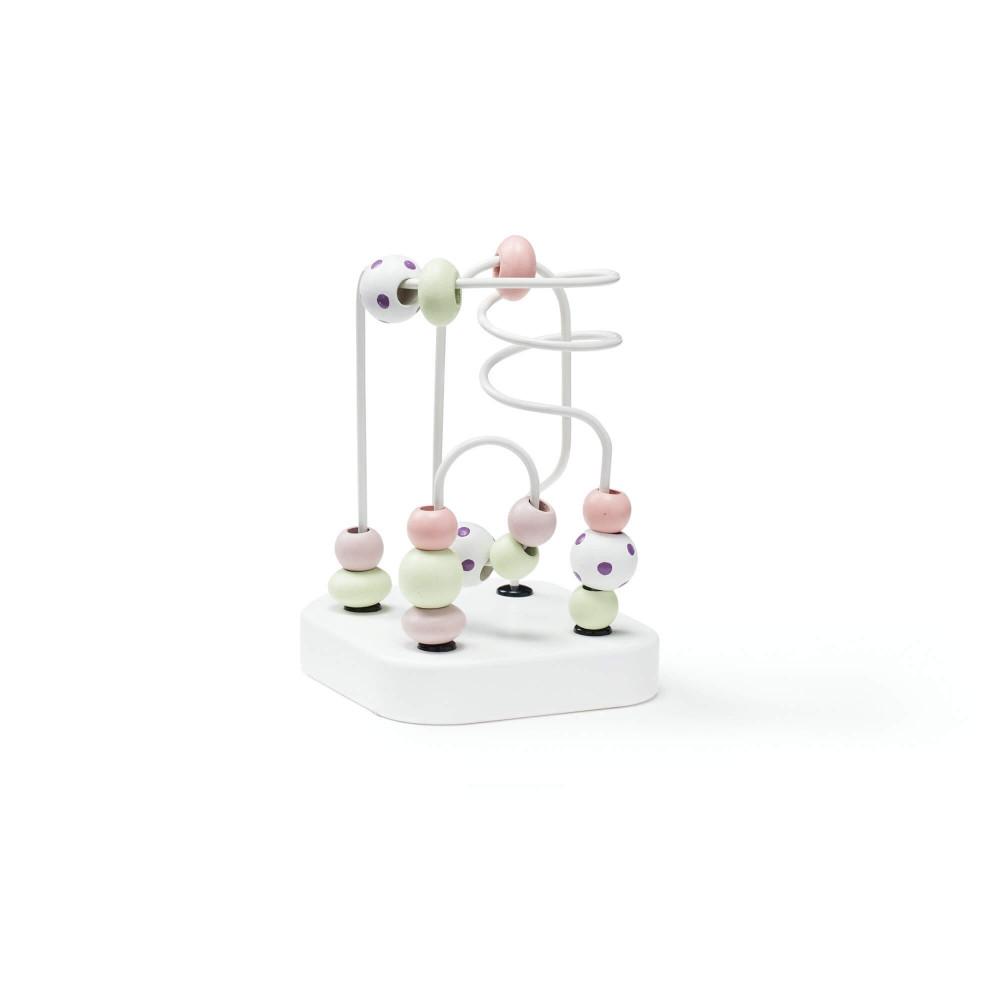 Kids Concept Mini Motorikschleife aus Holz, Edvin weiss