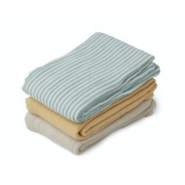 Liewood Spucktücher Set Line Sea blue stripe