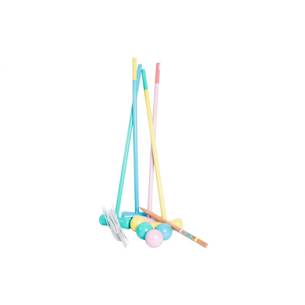 Magni Krocket Spiel in Pastellfarben