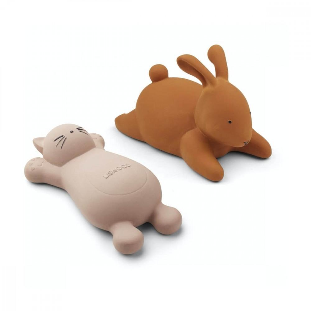 Liewood Badespielzeug Vikky Katze und Hase rosa/gelb