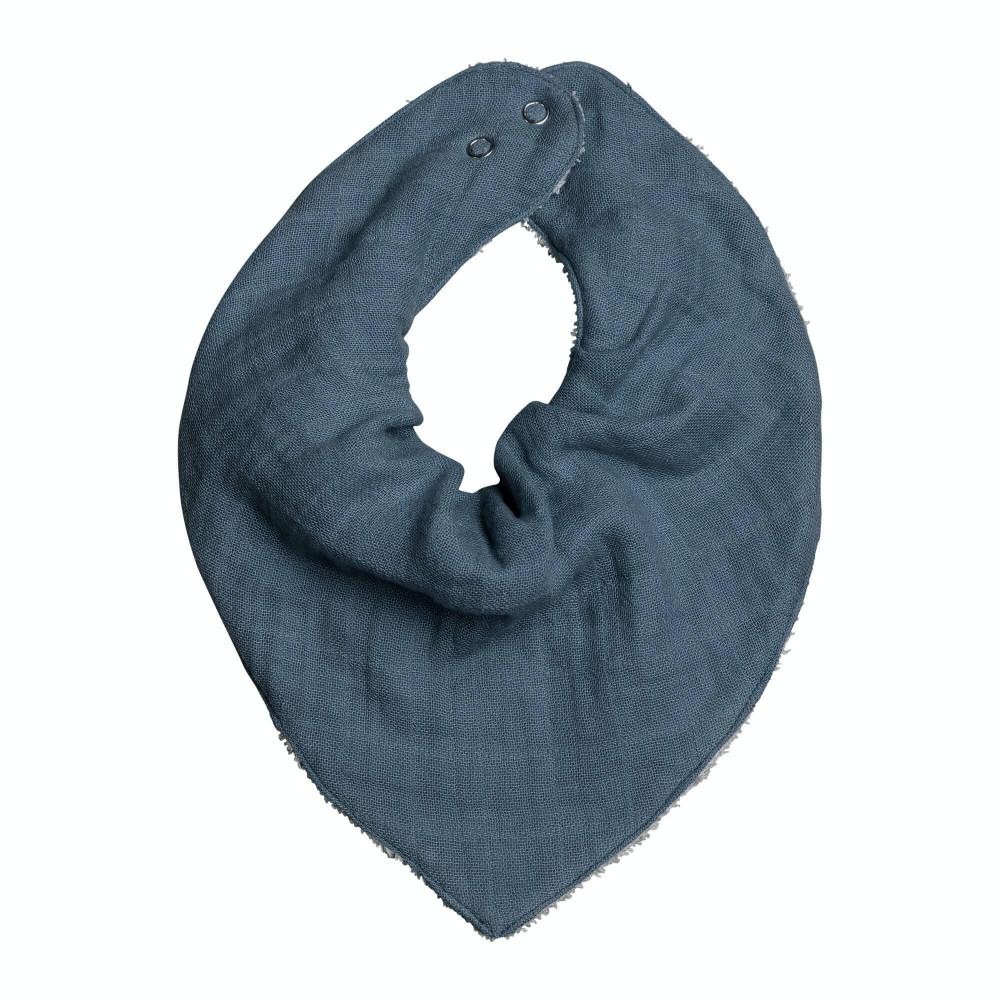 Fabelab Bandana-Halstuch / Lätzchen Bio-Baumwolle, Blue Spruce