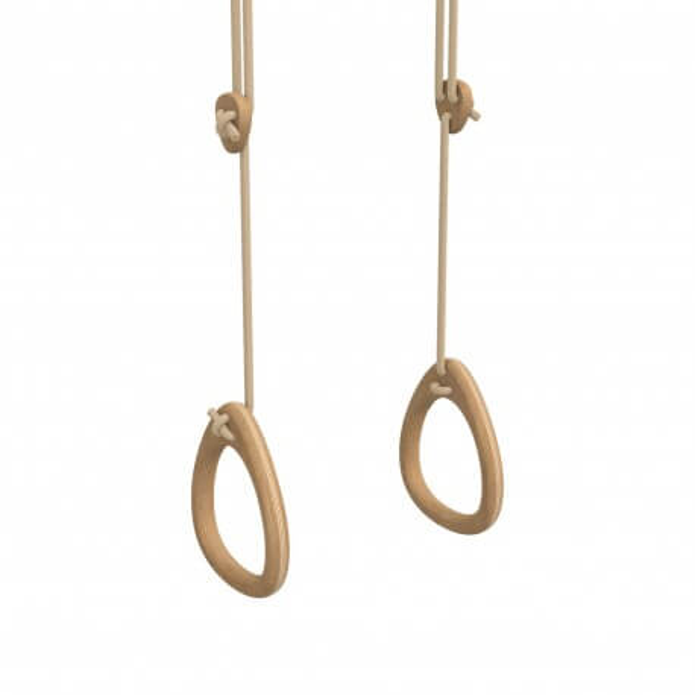 Lillagunga Schaukel-Ringe Eiche - Seile Beige