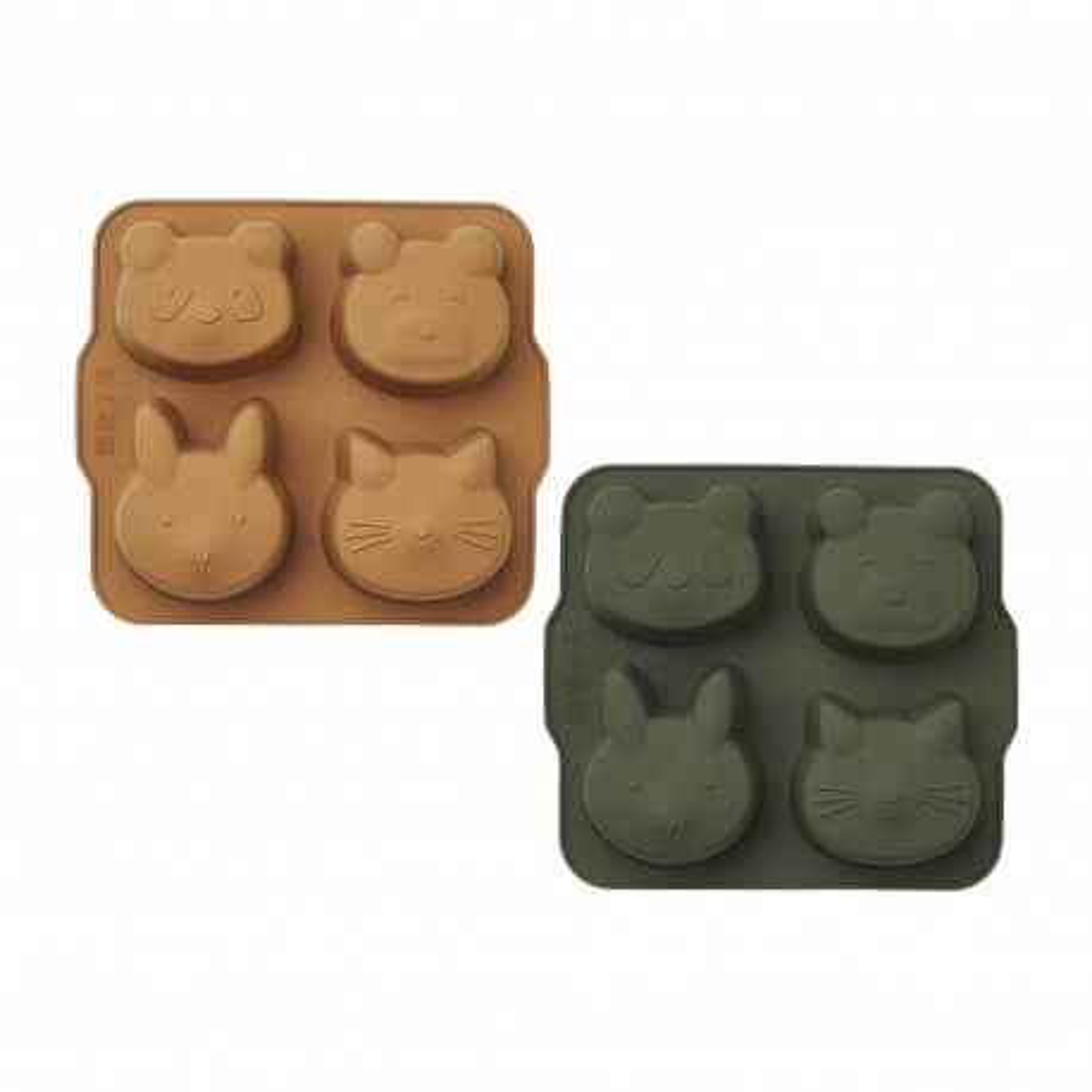 Liewood Backformen Mariam aus Silikon, hunter green/mustard mix