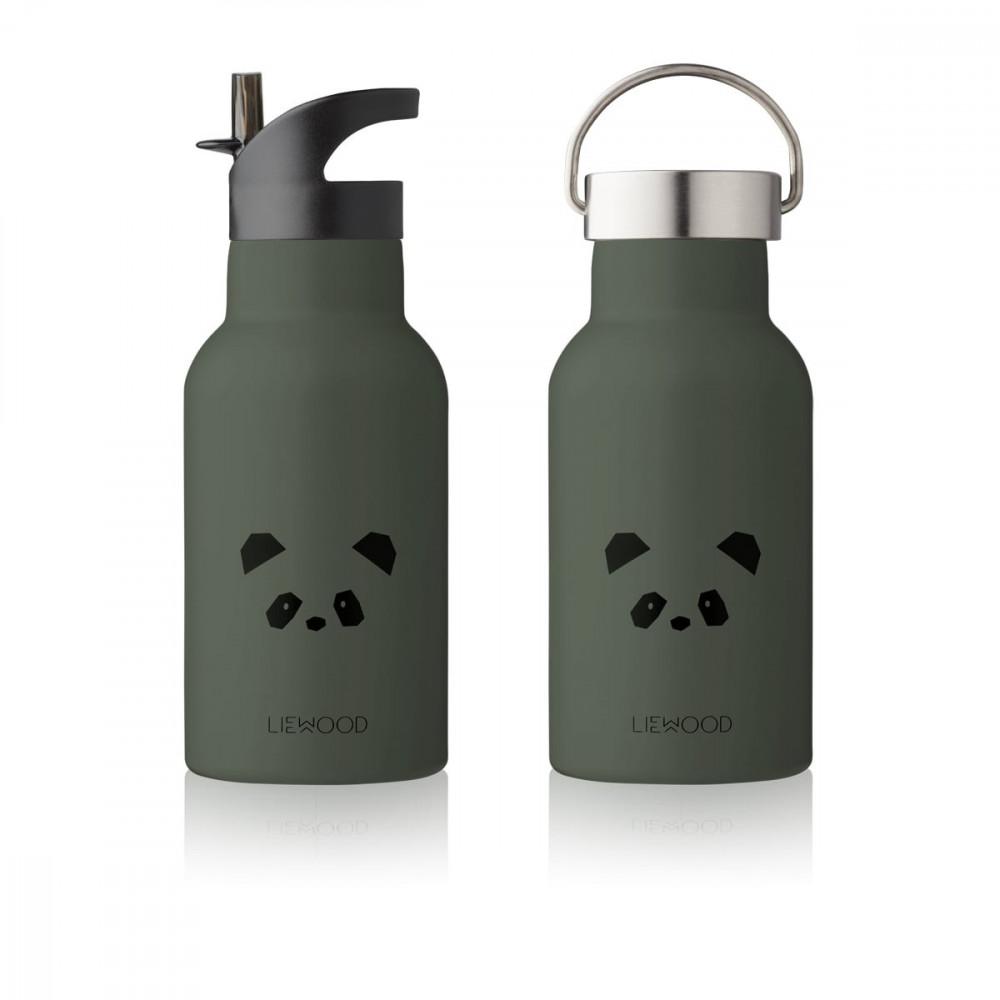 Liewood Trinkflasche Anker, Panda hunter green