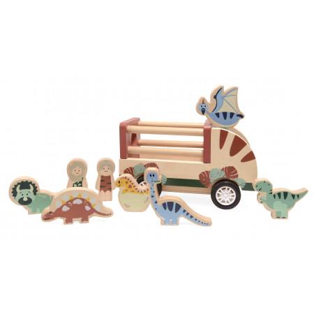Magni Zoo Auto mit Dinos aus Holz