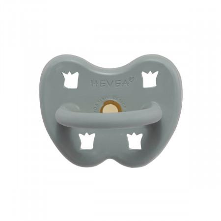 HEVEA Schnuller Gorgeous Grey aus Naturkautschuk - kiefergerecht ab 3 Mon