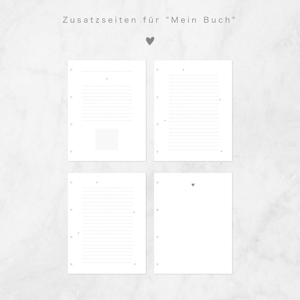 """Withwhite Zusatzseiten für """"Mein Buch"""" im Ringbuchformat"""