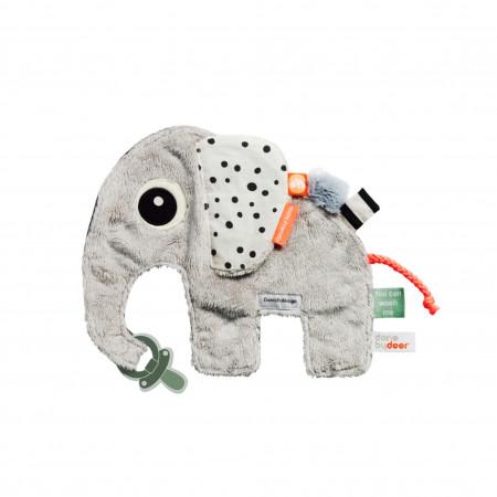 Done by Deer Kuscheltuch Elefant mit Schnullerbefestigung
