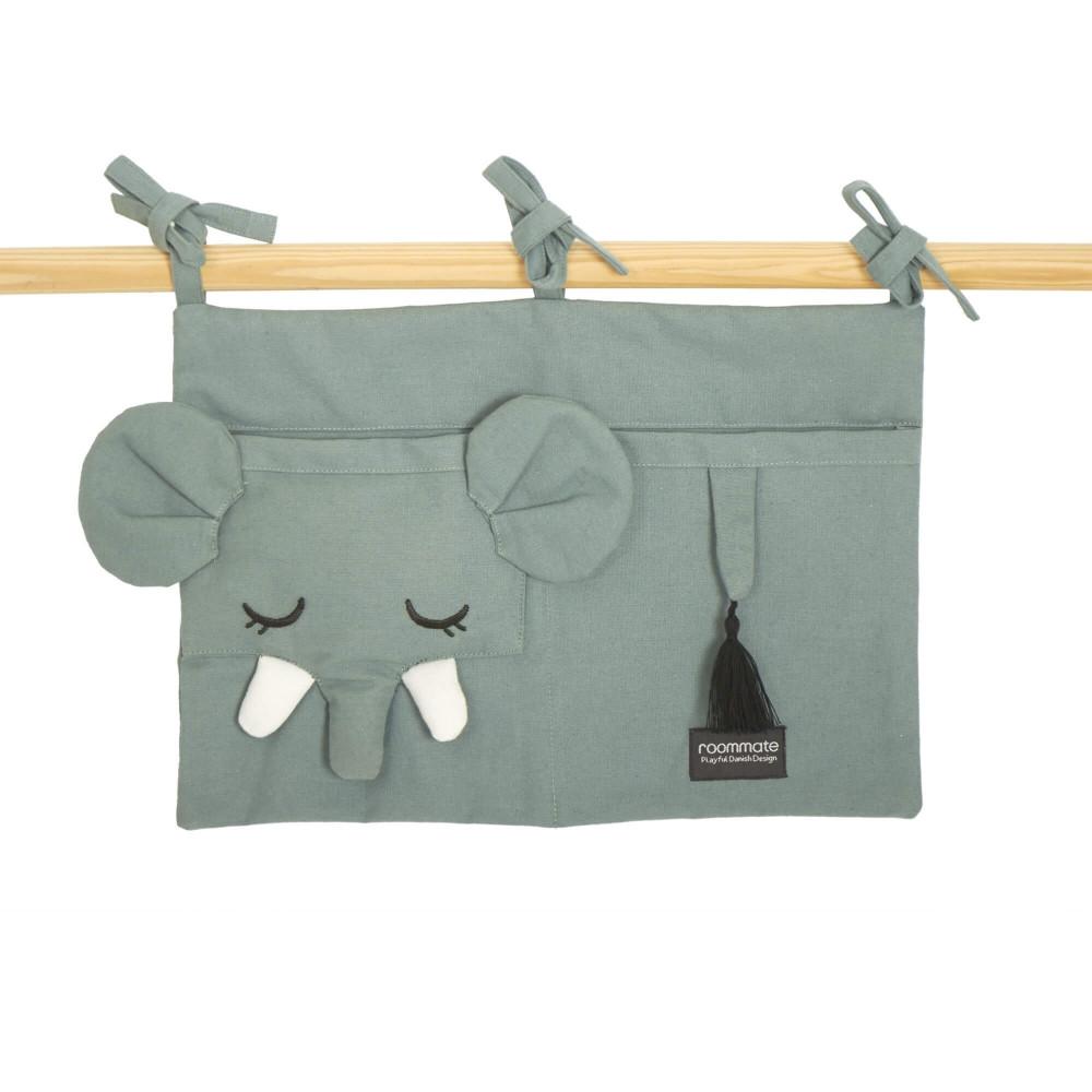 Roommate Betttasche aus Bio-Baumwolle, Elefant