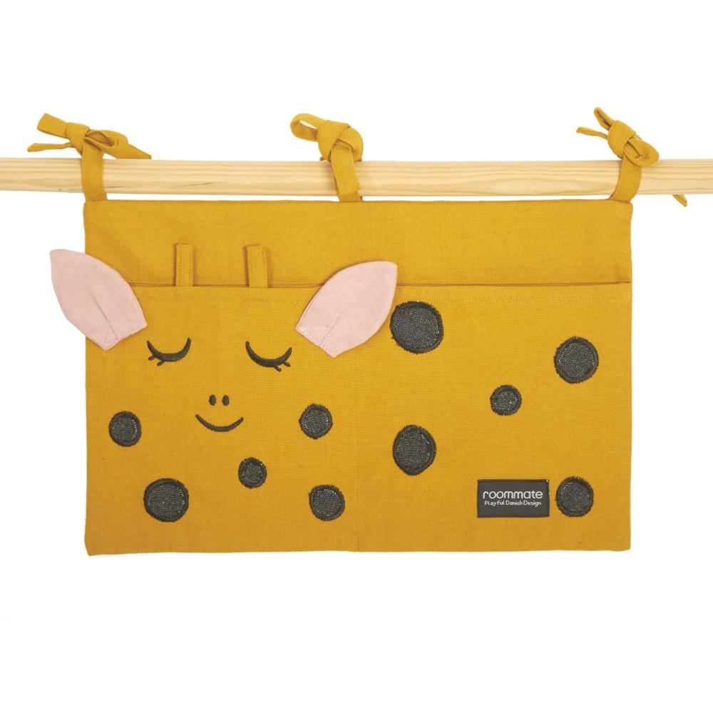 Roommate Betttasche aus Bio-Baumwolle, Giraffe