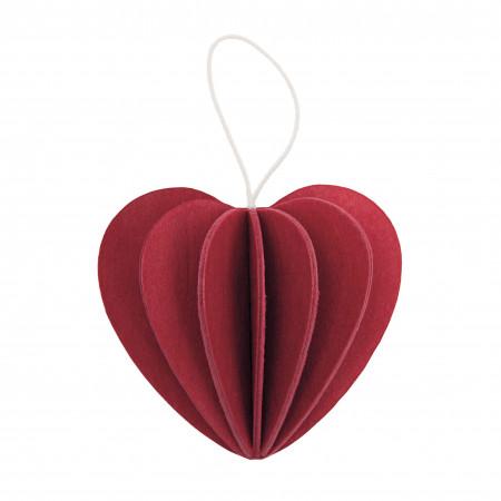 Lovi Holzfigur Herz, 4,5 cm dunkelrot