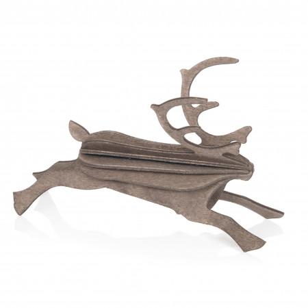 Lovi Holzfigur Rentier, 12 cm grau