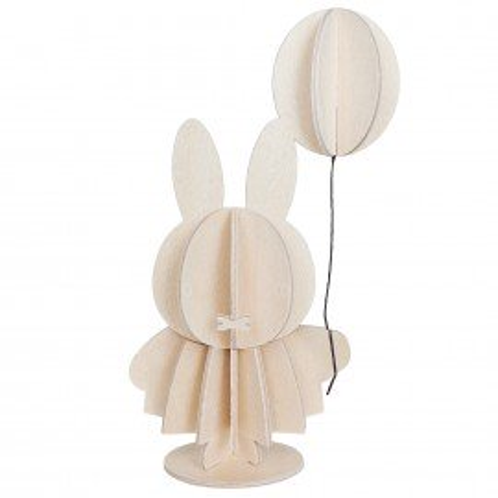 Lovi Holzfigur Miffi & Balloon zum Bemalen, natur 13,5 cm