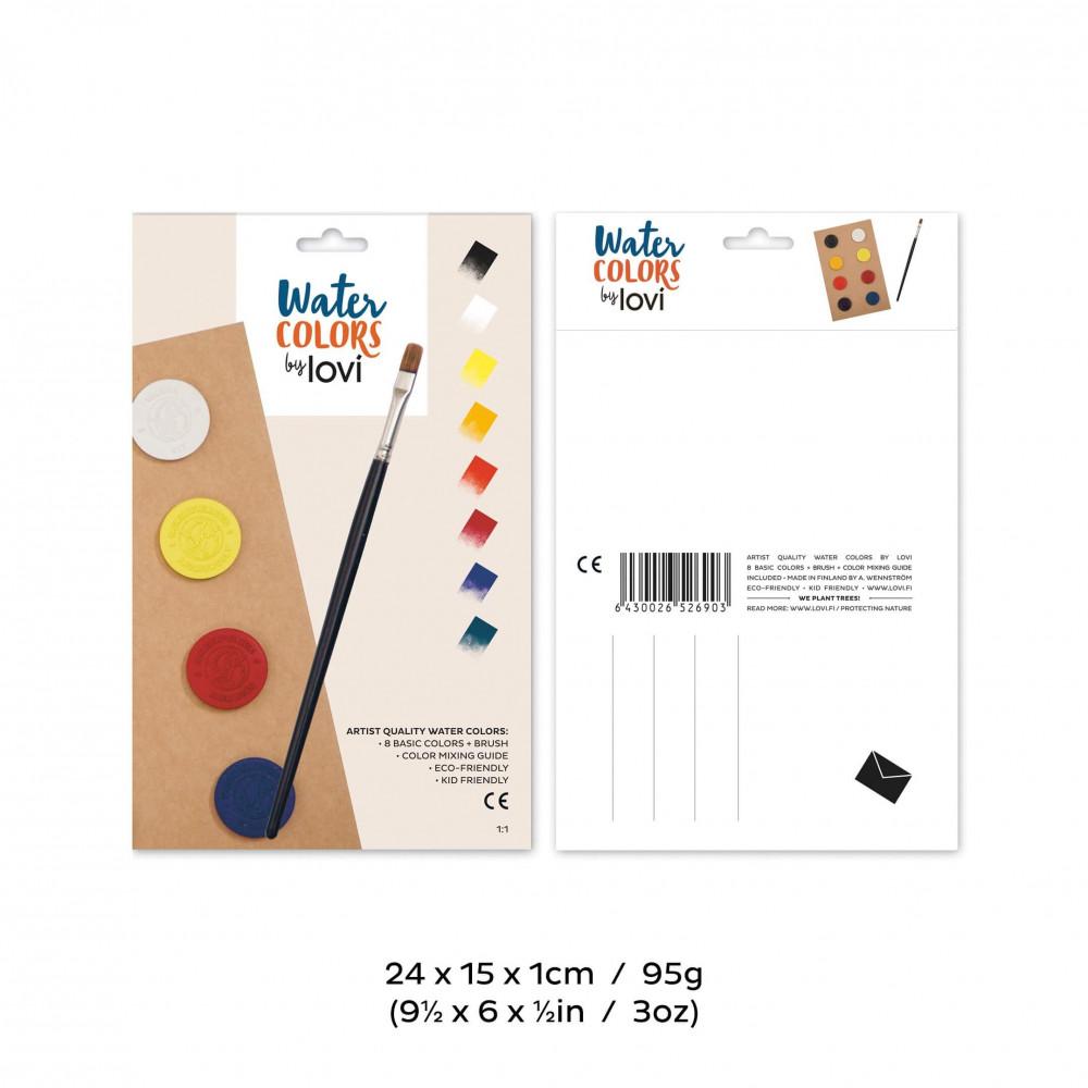 Lovi Wasserfarben 8 Farben