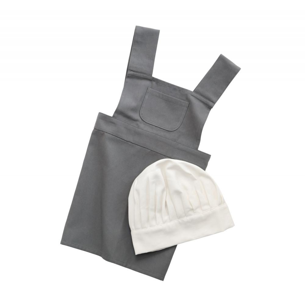 Sebra Kinderschürze und Kochmütze, grau/classicKinderschürze und Kochmütze