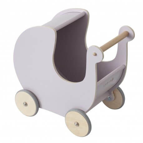 Sebra Puppenwagen aus Holz, morning cloud pink