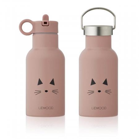 Liewood Trinkflasche Anker Katze rosa