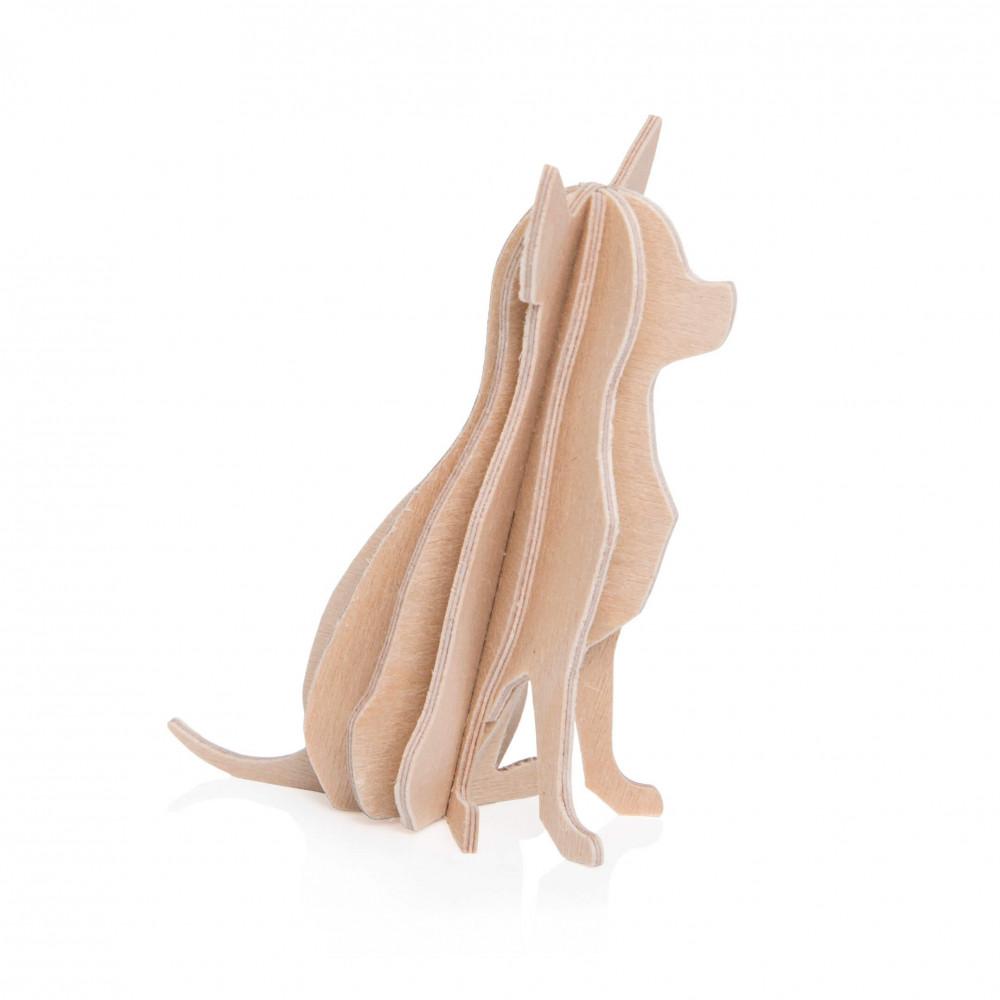 Lovi Holzfigur Chihuahua 6 cm natur