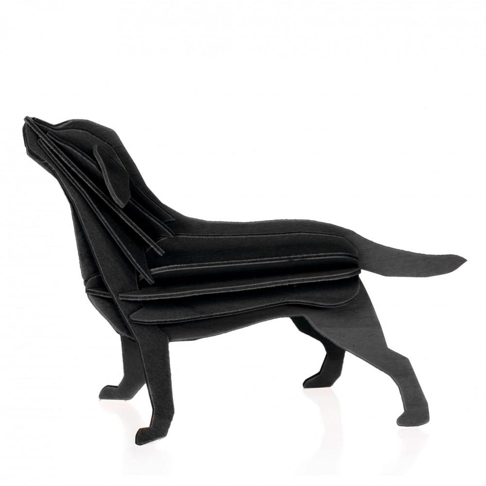 Lovi Holzfigur Labrador 15 cm schwarz
