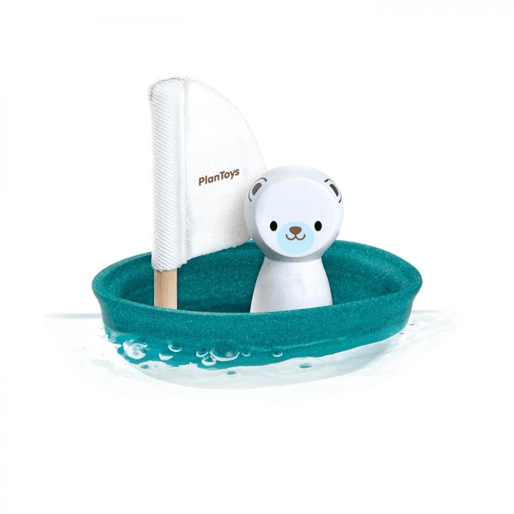 PlanToys Segelboot Eisbär