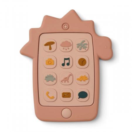 Liewood Silikon Spielzeug-Handy Thomas Dino rose