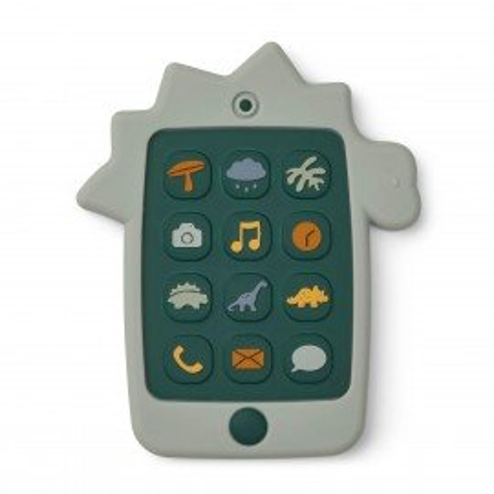 Liewood Silikon Spielzeug-Handy Thomas Dino dove blue