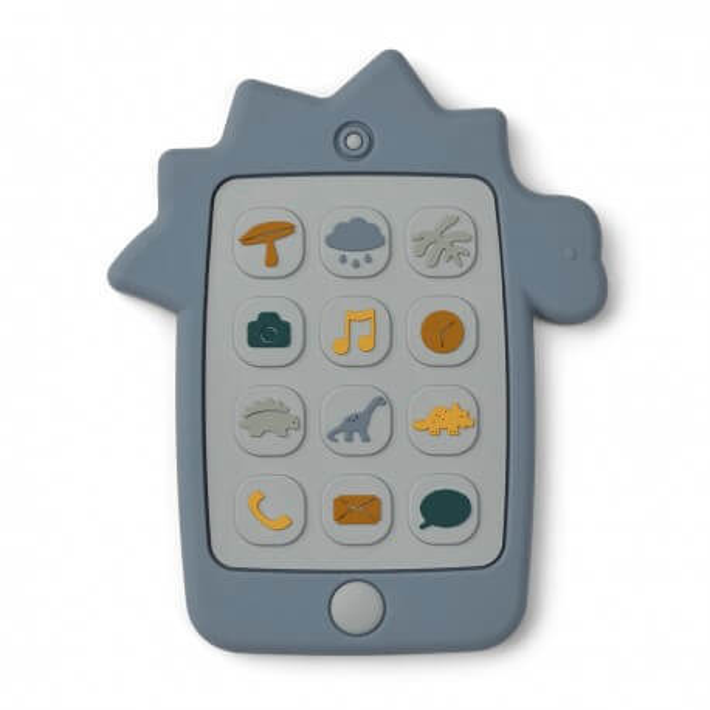 Liewood Silikon Spielzeug-Handy Thomas Dino blue wave
