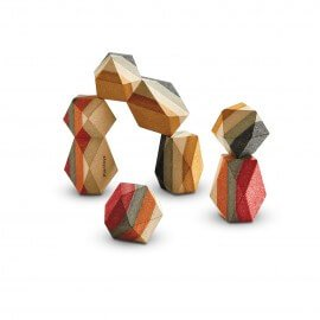 PlanToys GEO Stapelblöcke aus Holz