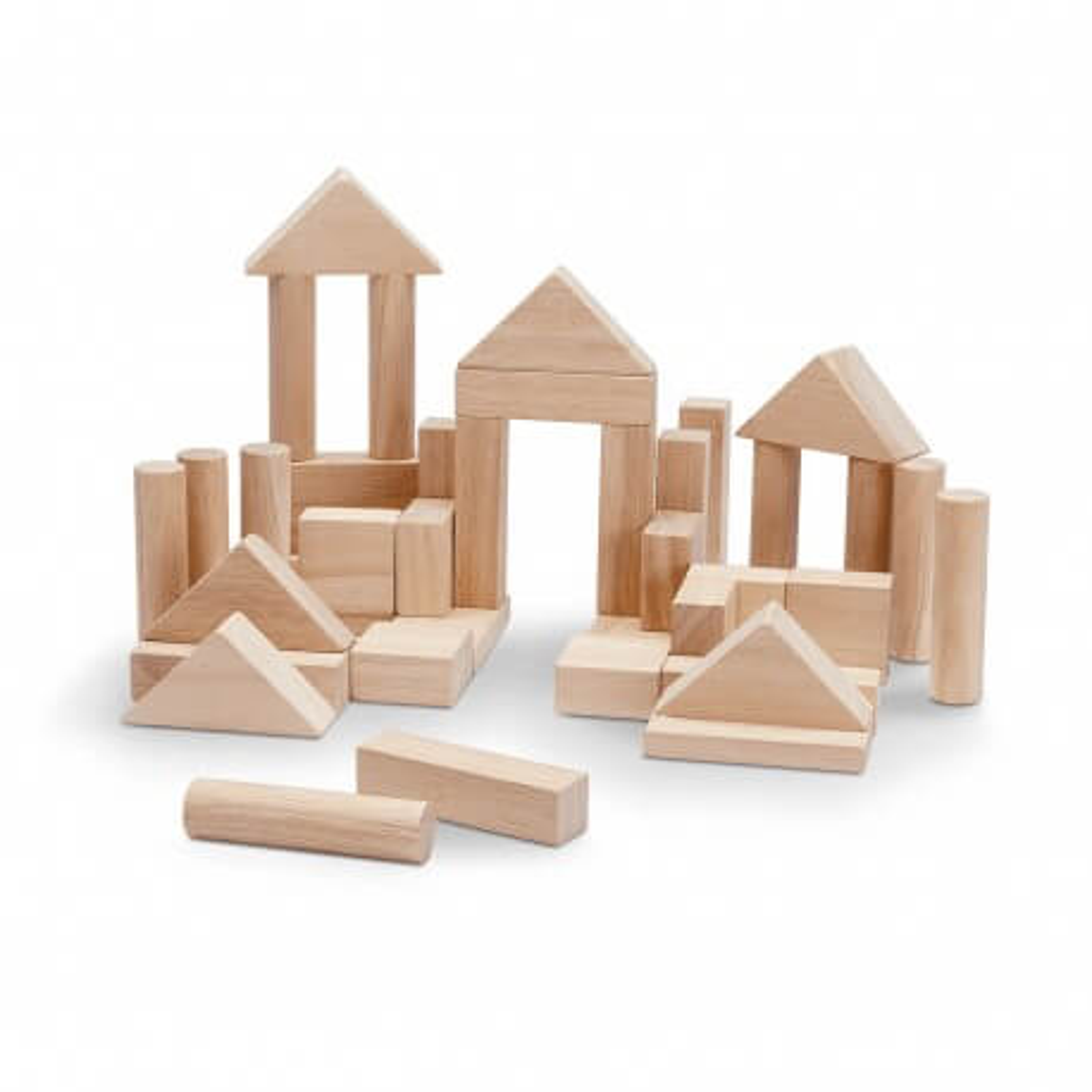 PlanToys Holzbauklötze Natur - 40 Stück