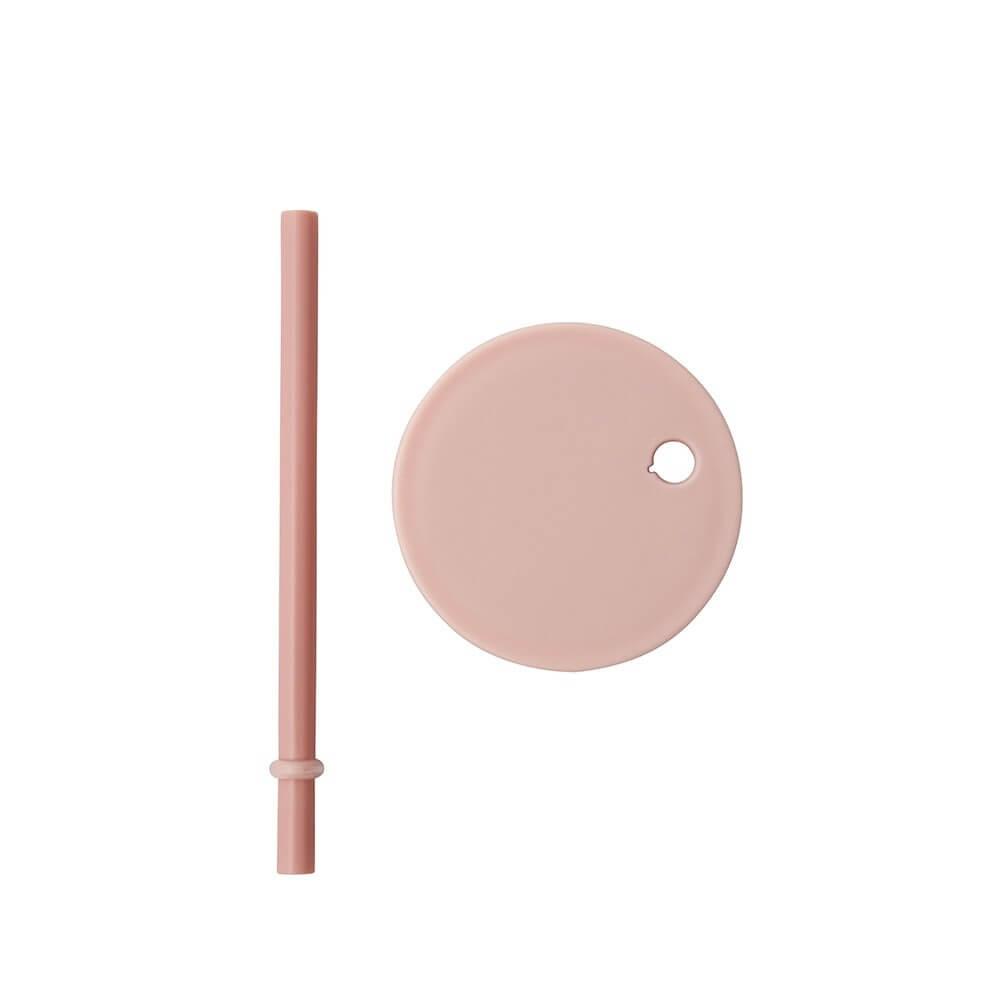 Design Letter Deckel mit Strohhalm (für Tritan) rosa
