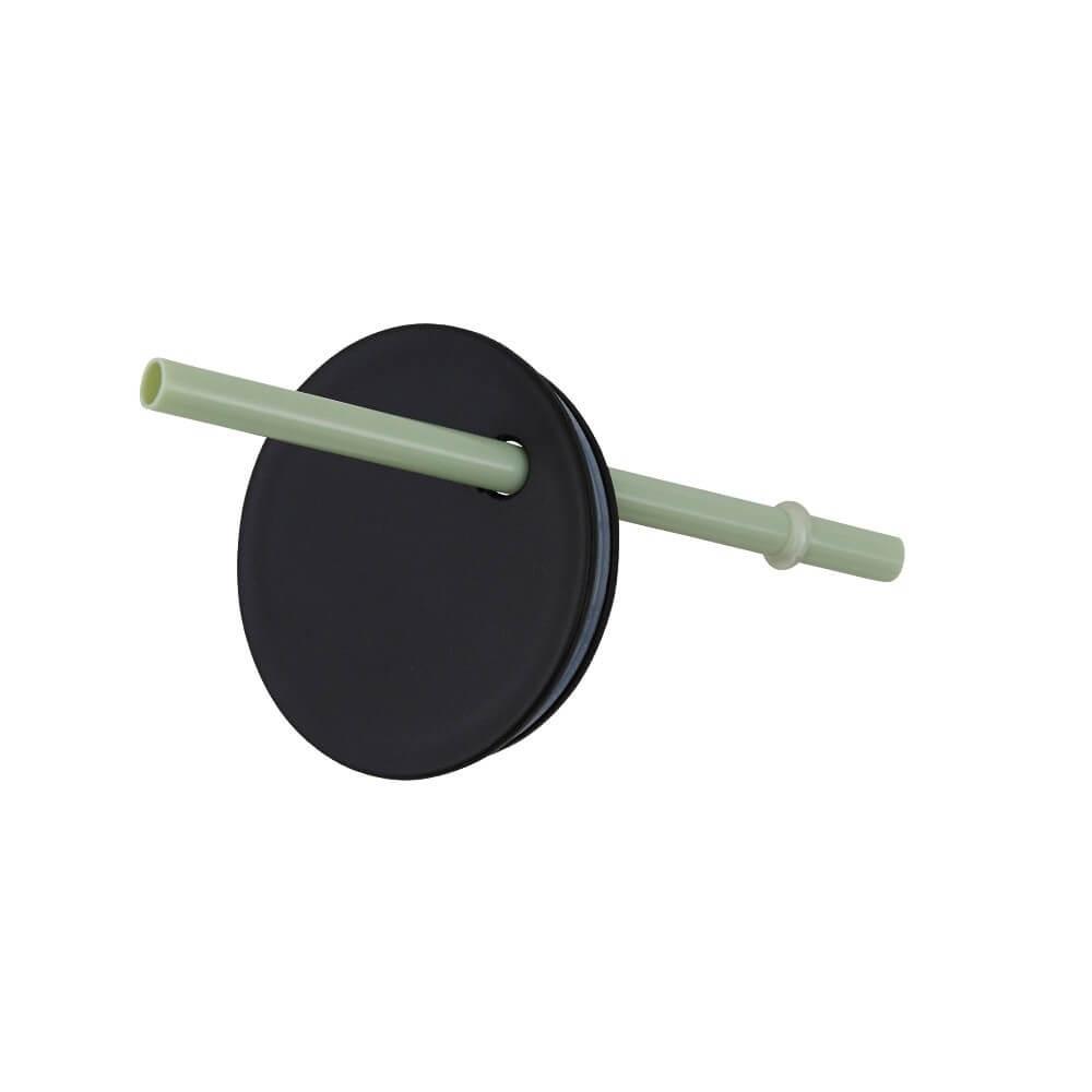 Design Letter Deckel mit Strohhalm (für Tritan) grün