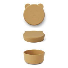 Liewood Snackbox Carrie klein Mr bear mustard