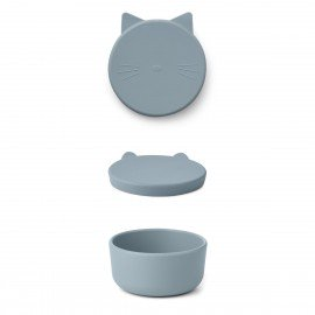 Liewood Snackbox Cornelius, mittelgroß dove blue