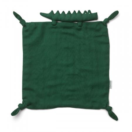 Liewood Kuscheltuch aus Bio-Baumwolle Crocodile green