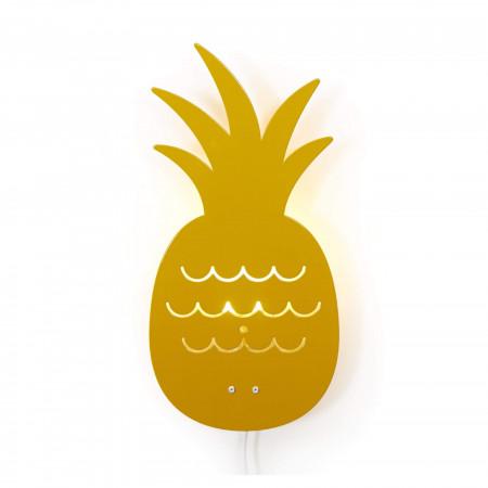 Roommate Kinderzimmerlampe Ananas gelb