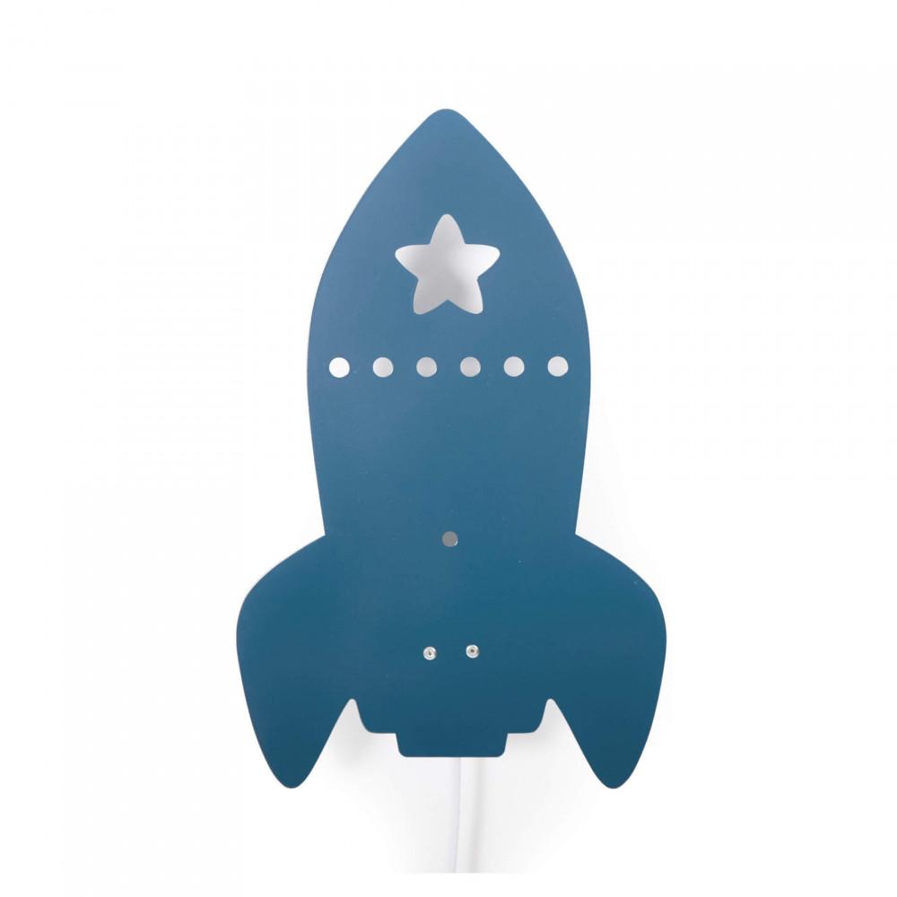 Roommate Kinderzimmerlampe Rakete blau