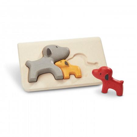 PlanToys Puzzle Hunde aus Holz