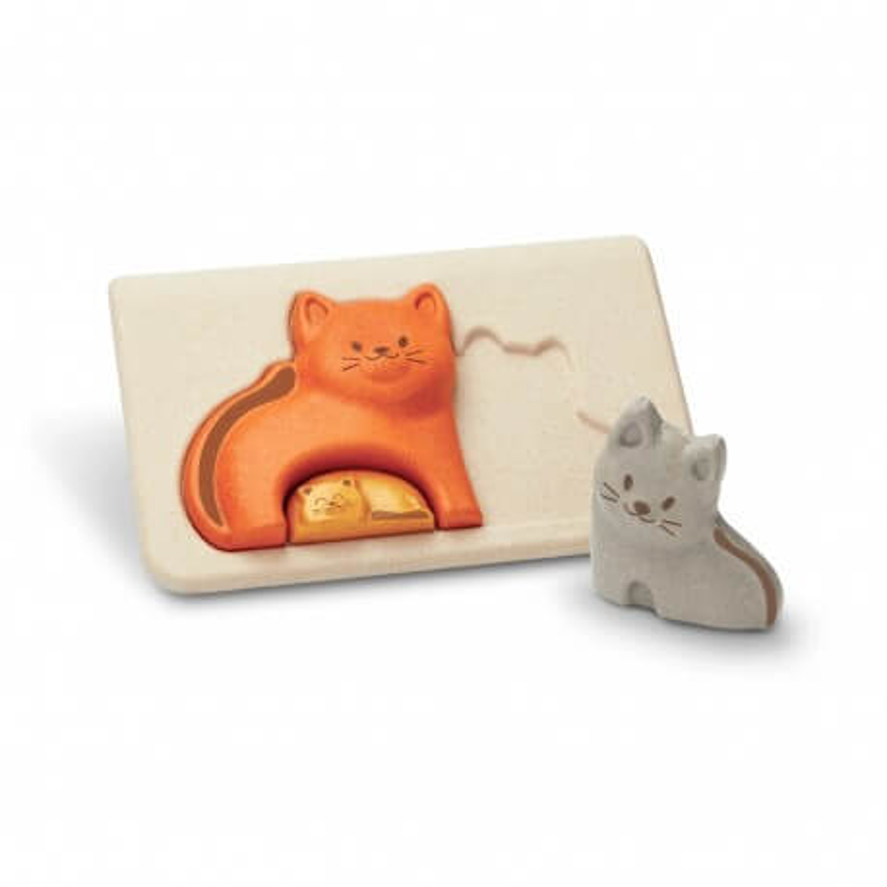 PlanToys Puzzle Katzen aus Holz